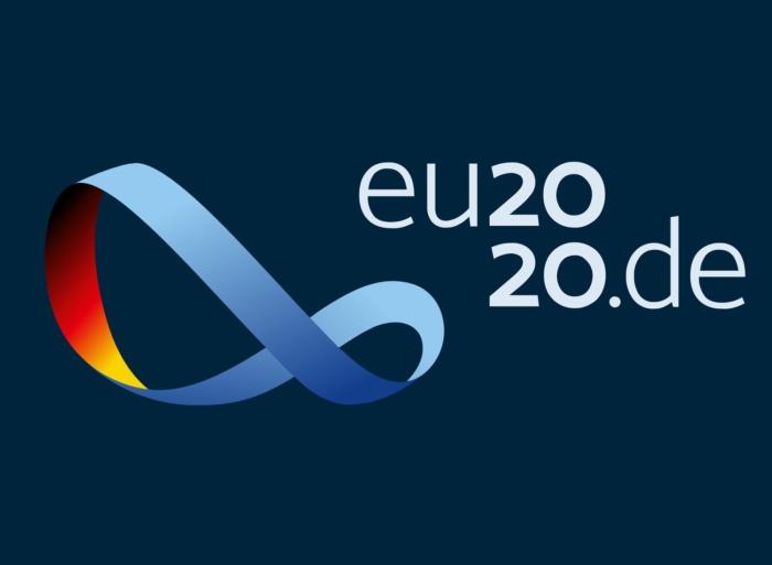 Logo der deutschen Präsidentschaft für den Vorsitz der Europäischen Union, euro2020.de